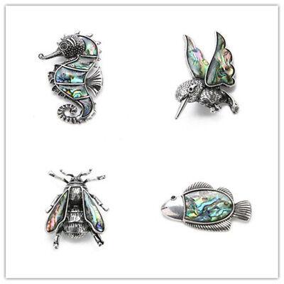 Butterfly Abalone Shell Zircon Broche Mariage Bridal Bouquet Animal Broche FB011