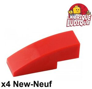 4251162 Brick 50950 LEGO NEW 1x3 Red Slope Curved 10x