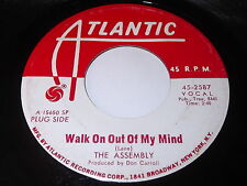 The Assembly: Walk On Out Of My Mind / That Stranger Used To Be My Girl 45