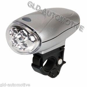 Fanale Luce Anteriore Bicicletta a 4 Led 3 funzioni Universale a batterie