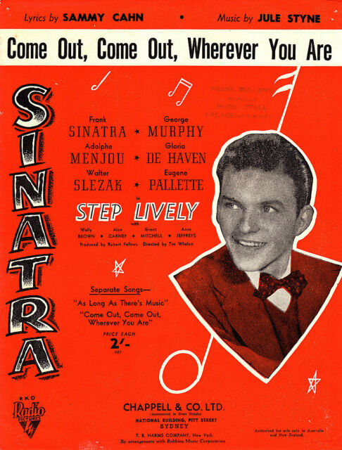Come Out,Come Out,Wherever You Are-Sinatra-Sheet Music