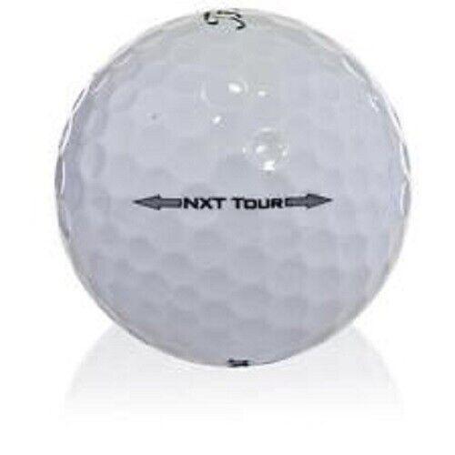 50 AAA Titleist NXT Tour Used Golf Balls + Free Tees