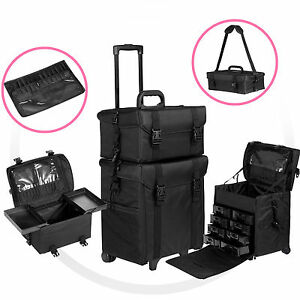 Image Is Loading 2 In 1 Rolling Makeup Trolley Cosmetic Case