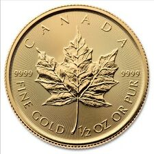 1/2 Oz Maple Leaf Gold 2017 halbe Unze Goldmünze Royal Canadian Mint 9999