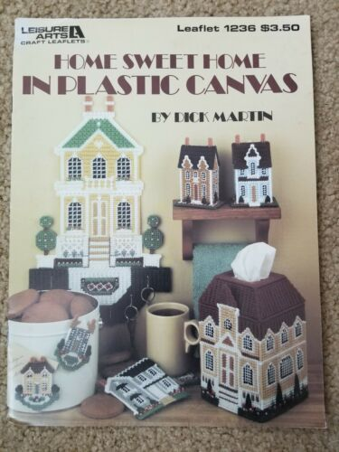 Home Sweet Home In Plastic Canvas By Dick Martin Magnets Tissue box cover /& More