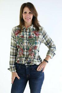 Johnny-Was-Workshop-Tyrell-Handkerchief-Shirt-Embroidered-Plaid-New-Boho-W17818