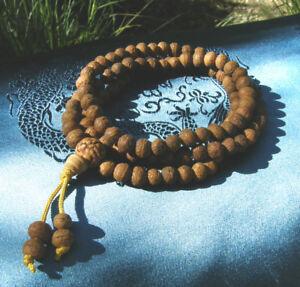 Sehr-schoene-MALA-Gebetskette-aus-Bodhi-Samen-75cm-TIBET