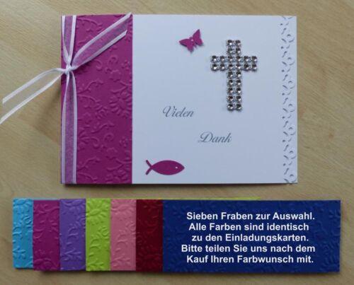 Einladung zur Konfirmation Karte Menükarte Danksagung Gastgeschenke Tischkarten