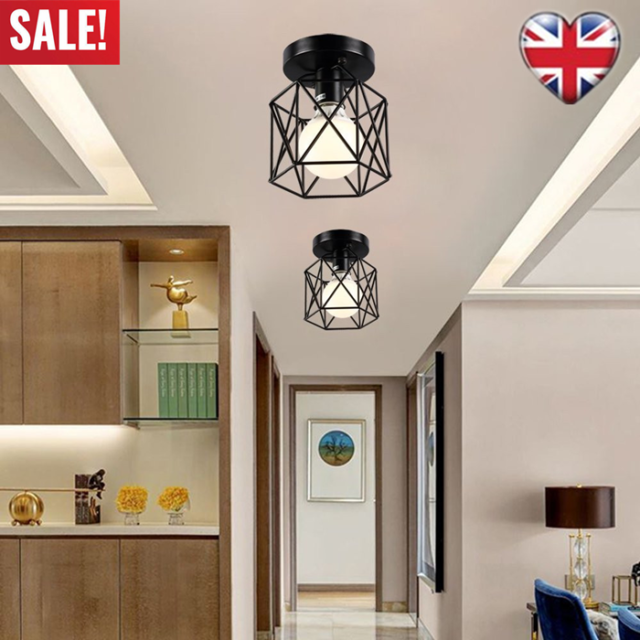 Retro Ceiling Light Shade Easy Fit Metal Pendant Lampshade Kitchen