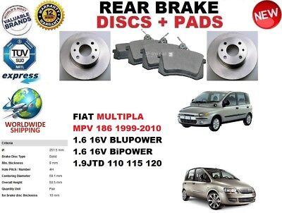 FIAT MULTIPLA 1.6 1.9TD JTD REAR BRAKE SHOE FITTING KIT