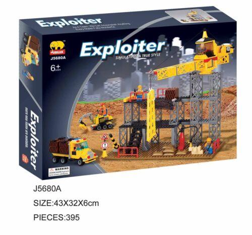 Woma grue avec engins de chantier Blocs de construction Set j5680a