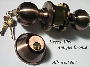 Image is loading Door-Lock-Deadbolt-Set-Keyed-Alike-Quality-deadlock- & Door Lock Deadbolt Set * Keyed Alike * Quality deadlock Set ... Pezcame.Com