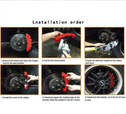 2PS Fit 18 19 20 Wheel 3D ENDLESS Aluminum Brake Caliper Covers Front Rear BMW
