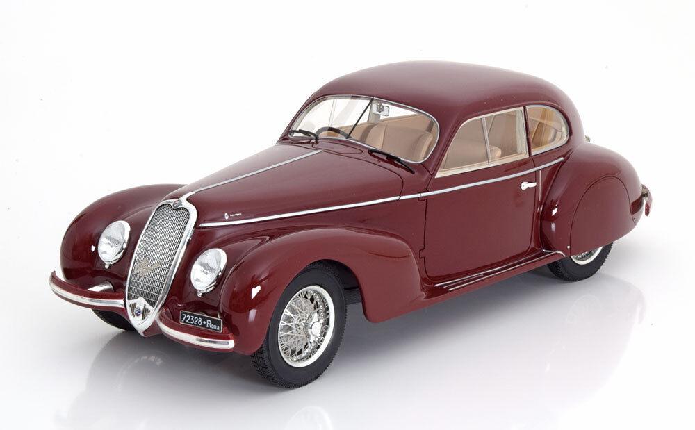 Cult Models 1938 Alfa Romeo 6C 2500S Berlinetta de Tourisme Foncé Rouge 1 18