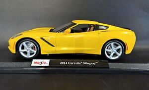 Maisto-Die-Cast-Special-Edition-1-18-2014-Corvette-Stingray-Yellow-Collectibl