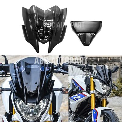 Windscreen Windshield Screen Shield with Bracket For 2016-2019 BMW G310R G 310 R