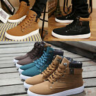 Fashion Men's Suede Lace Loafers High Top Sneakers Ankle Boots Shoes Lace-up