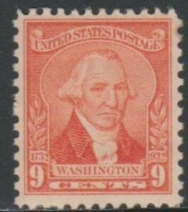 Scott# 714 - 1932 Commemoratives - 9 cents George Washington Single
