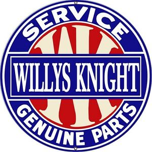 Reproduction willys knight service genuine parts sign 24 round ebay image is loading reproduction willys knight service genuine parts sign 24 sciox Choice Image