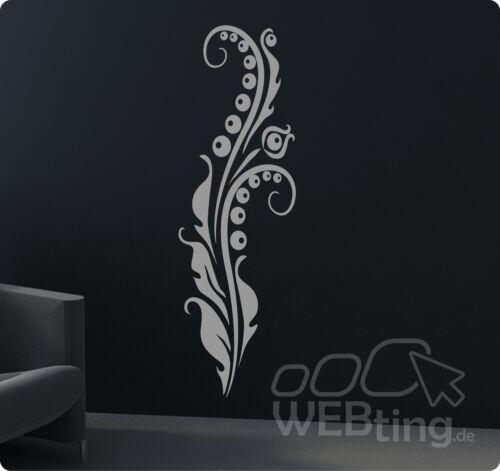 Wandtattoo Banner Blumen Ranke Wandaufkleber Aufkleber Streifen Deko Tattoo