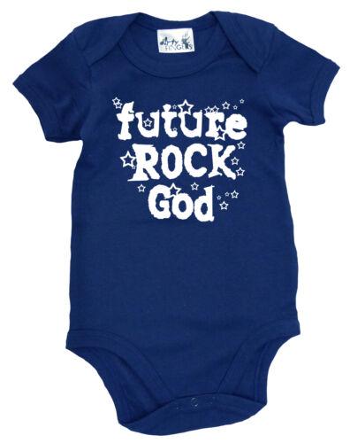 """Baby Rock Bodysuit /""""Future Rock God/"""" Baby grow Vest Music Rock Heavy Metal Stars"""