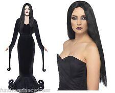 Halloween Morticia Deluxe Costume & Wig Medium 12-14 Fancy Dress Next Day Del