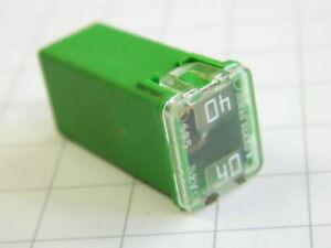 sourcing map 5pz CC 32V 40A plastica Verde Terminale Femmina Pal Fusibili Cartuccia per Auto