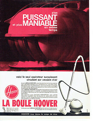 Other Breweriana Publicité Advertising 018 1963 La Boule Hoover Aspirateur Coussin D'air