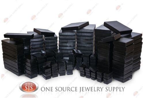 Black Pinstripe Cotton Filled Gift Boxes Jewelry Box Lots of 12~25~50~100