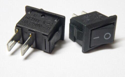Interruptor activado//desactivado 230v negro SecretZero interruptor mini interruptor de instalación