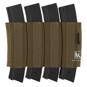 KRYDEX Fourfold SMG Mag Elastic Insert for Micro Fight Chest Rig Coyote Brown