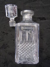 Carafe cristal flacon whisky cristal taillé St Louis