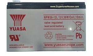 BATTERIA-AL-PIOMBO-YUASA-NPW36-12L-12V-7-2A-36W-CELL-10MIN-PER-UPS-ANTIFURTI