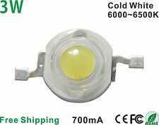 50pcs x 3W High Power LED Chip BRIDGELUX LED Bulb Diodes Lamp 200lm (Cold White)