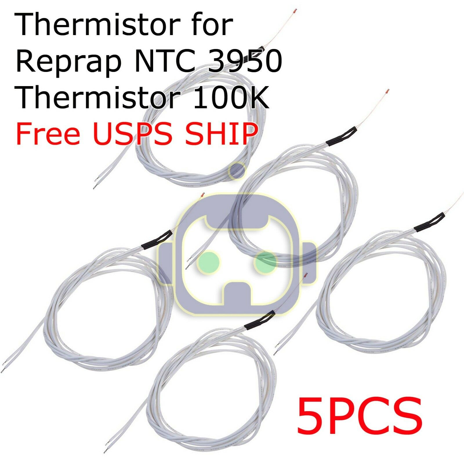 5pcs New Reprap NTC 3950 Thermistor 100K with 1 Meter wire for 3D Printer N211