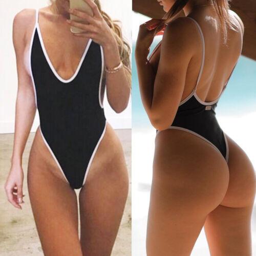Women Swimming Costume Padded Swimsuit Monokini Bandage Swimwear Bikini Push Up