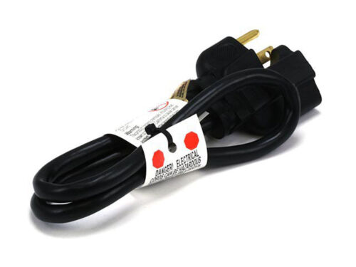 Black-Electrical AC Electric Power Extension 16AWG//125V-Cable Wire Cord-3 Prong