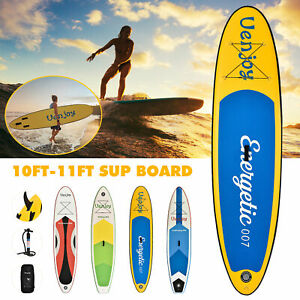 10-039-11-039-Inflatable-SUP-Stand-up-Paddle-Board-Surfboard-Adjustable-Fin-Paddle