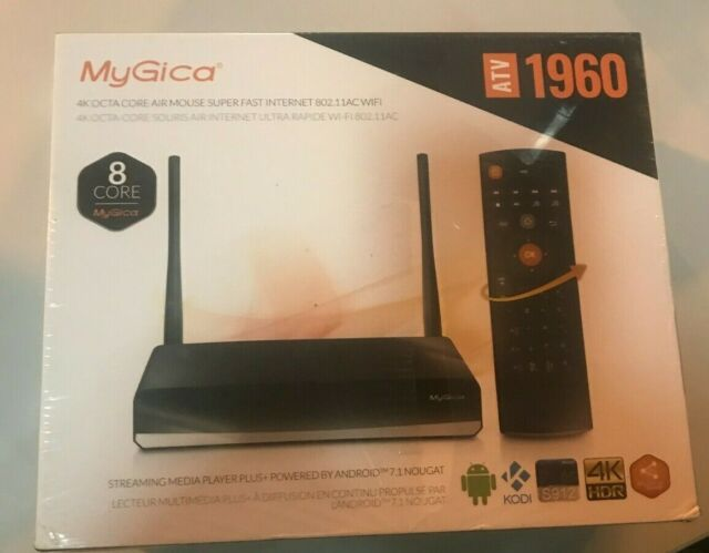 MyGica ATV1960 S912 Octa Core Android 7.1 TV Box Streaming Media Player 3GB//16GB//4K//HDR//1000M LAN//Internal with Voice Remote