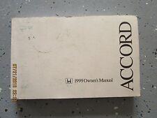 99  HONDA ACCORD USER OWNER MANUAL HANDBOOK GUIDE INFORMATION BOOK