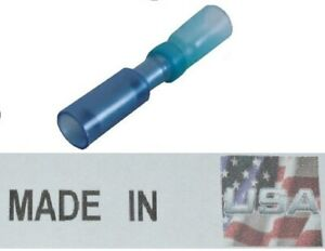 """100 Pack 14-16 AWG Ga Blue Nylon Insulated Male Bullet Terminal .180/"""""""