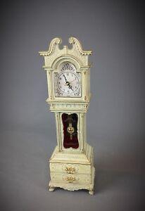 Magnifique-boite-a-bijoux-musicale-mecanique-pendule-de-style-comtoise-vintage