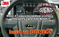 Domed Ford Original Batman Steering Wheel Emblem Overlay F-150 F-250 F-350