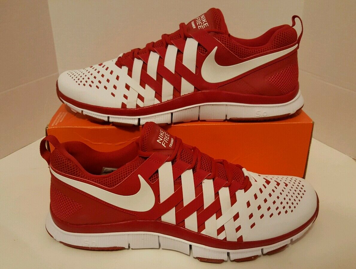 Nike Free Trainer 5.0 TB Men's Running Shoes SZ 18 NEW 579811 601 Red/Wht No Lid