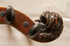 Beautiful Old Antique Lionhead Violin, German ca.1870 - Wittner Geared Pegs