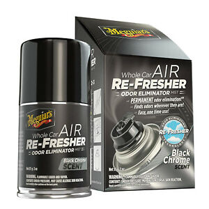 Meguiar's G181302 Toute Voiture Air Re-fresher Odor Eliminator Mist, Noir Chrome-afficher Le Titre D'origine