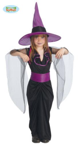 COSTUME DA STREGHETTA Taglie Ass Halloween Carnevale Bambina Witch Dark Feste