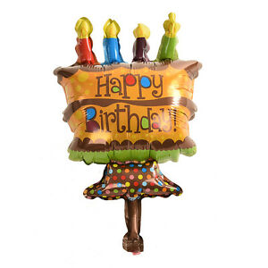Happy Birthday Mini Chocolate Cake Balloon Foil Balloons for Party
