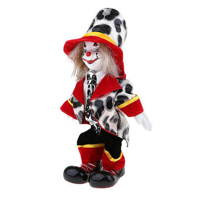Collections Handmade Porcelain Clown Doll Ceramic Clown Dolls Decoration #3
