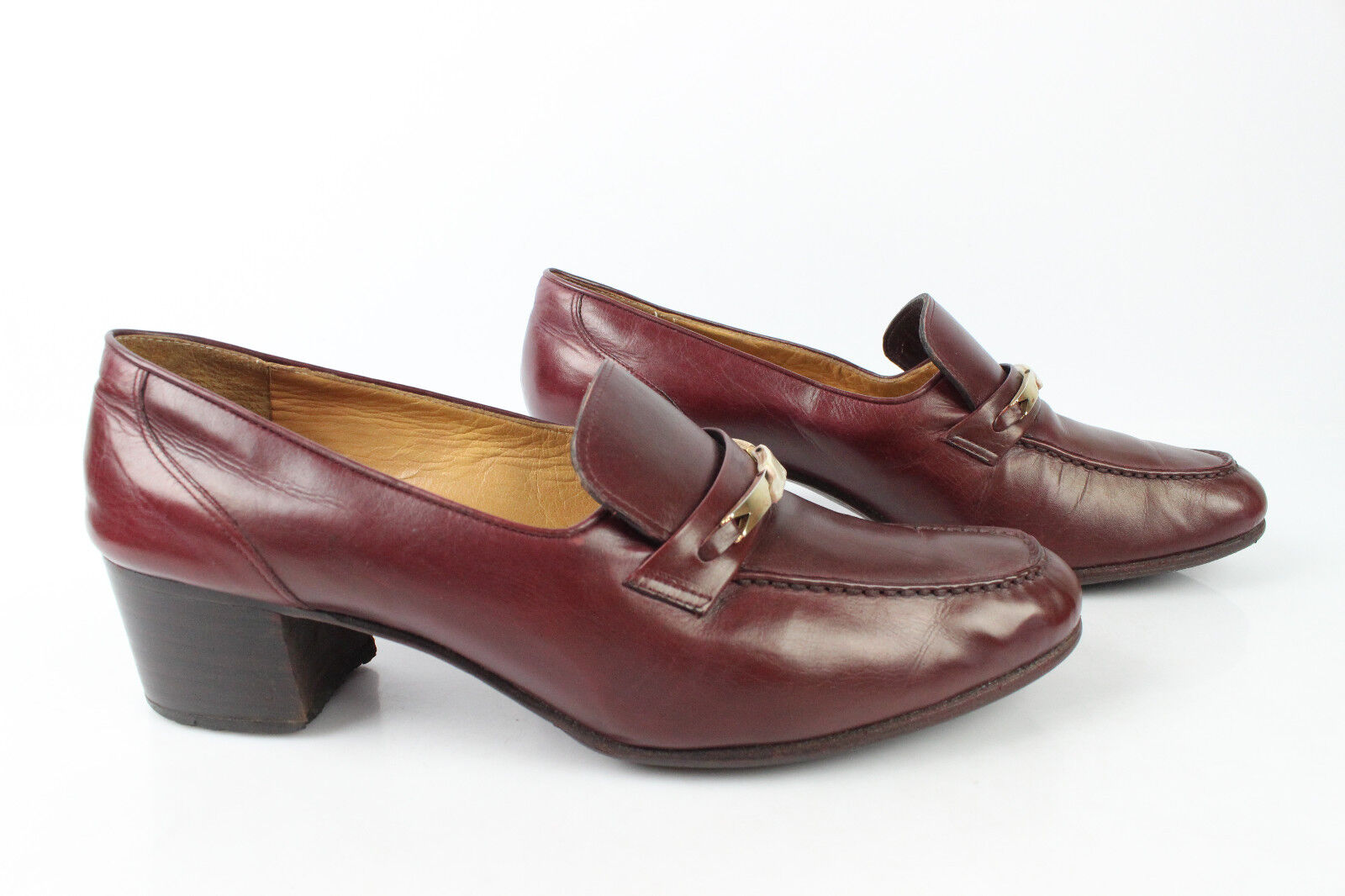 VINTAGE Mocassin CELLINI Great Bootmaker All Leather Bordeaux T 39
